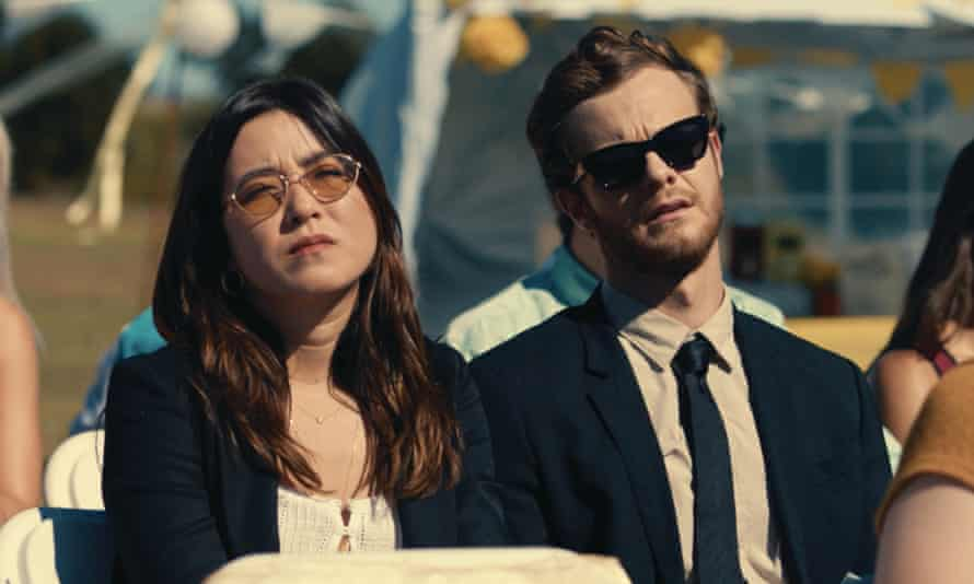 Maya Erskine and Jack Quaid in Plus One.