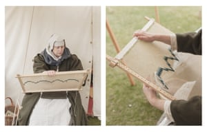 Tracey Eggleston portrays an itinerant needle woman from Wardour garrison