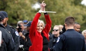 Jane Fonda is arrested during a climate protest in Washington