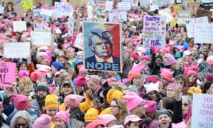 The Women's March on Washington on 21 January 2017 in Washington DC was one of the biggest protests in US history.