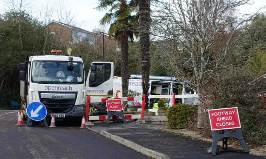 Trouble started when Openreach had to dig up the road and phone lines were mixed up.