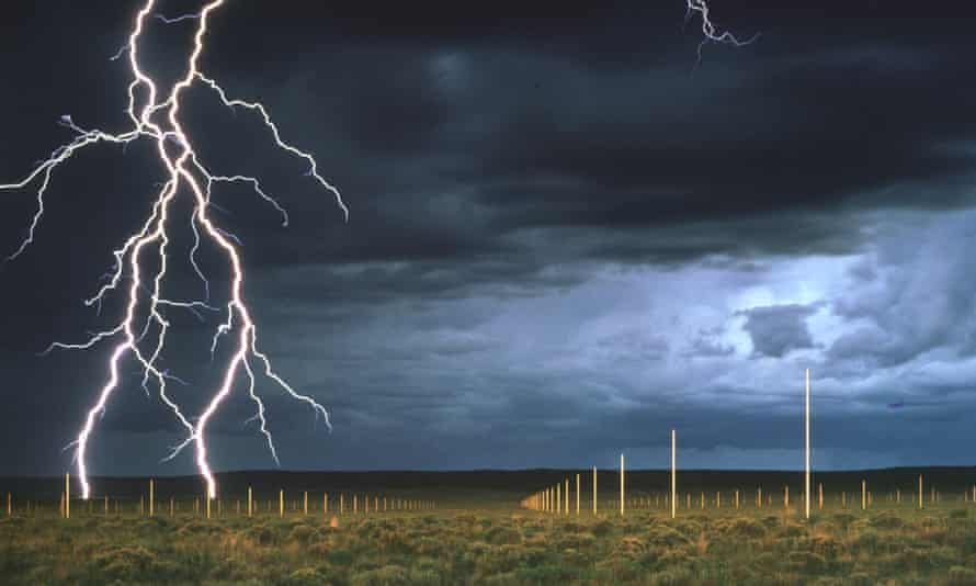 The power and the glory … The Lightning Field by Walter de Maria