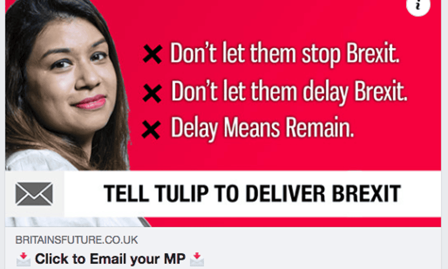 Britain's Future advert