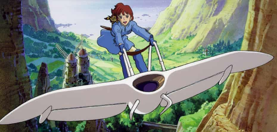 Psychedelic sci-fi … Nausicaa of the Valley of the Wind.