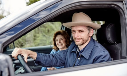Bryan Mealer and his cousin Frances, on their Across the Divide Tour from Texas to DC.