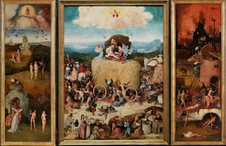 The Haywain by Hieronymus Bosch.