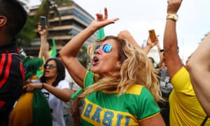 Supporters of Jair Bolsonaro have been celebrating all day, as they anticipated their candidate would be declared winner in the race.