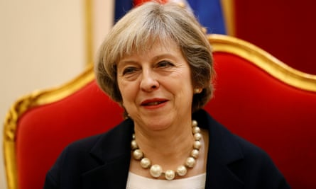 Theresa May in Bahrain ahead of the Gulf Co-operation Council Summit.