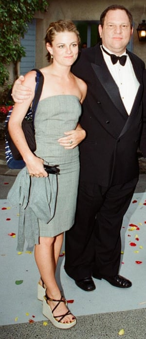 Harvey Weinstein with former assistant Zelda Perkins at Cannes in 1998.