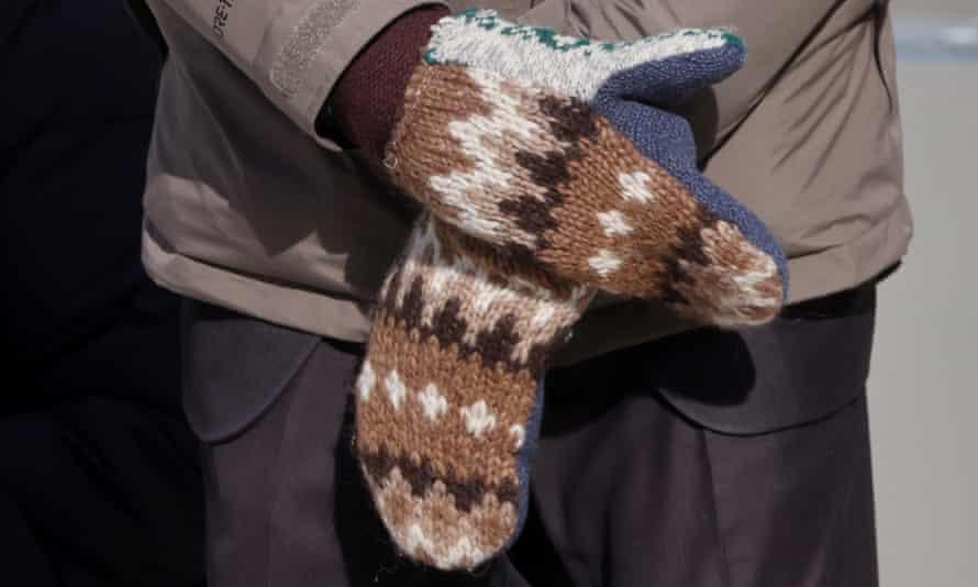 Bernie Sanders' mittens, as worn at Joe Biden's inauguration