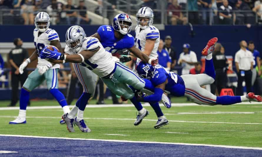 Ezekiel Elliott scored his first NFL touchdown in week one