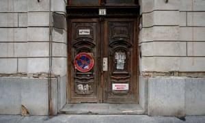 Secret history … Nigel Swann's shot of District VII-Vörösmarty utca 14, Budapest.