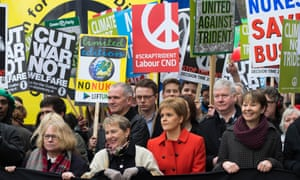 Saturday's anti-Trident march in London