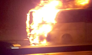 A passerby took this photo of the coach on the M25 on 14 February.