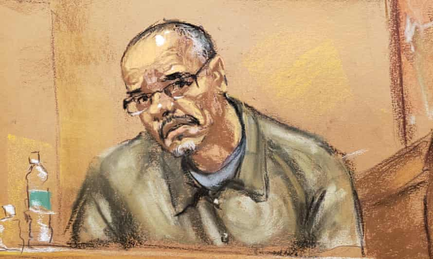 Jorge Cifuentes is cross-examined during the trial of 'El Chapo' in Brooklyn federal court in New York.