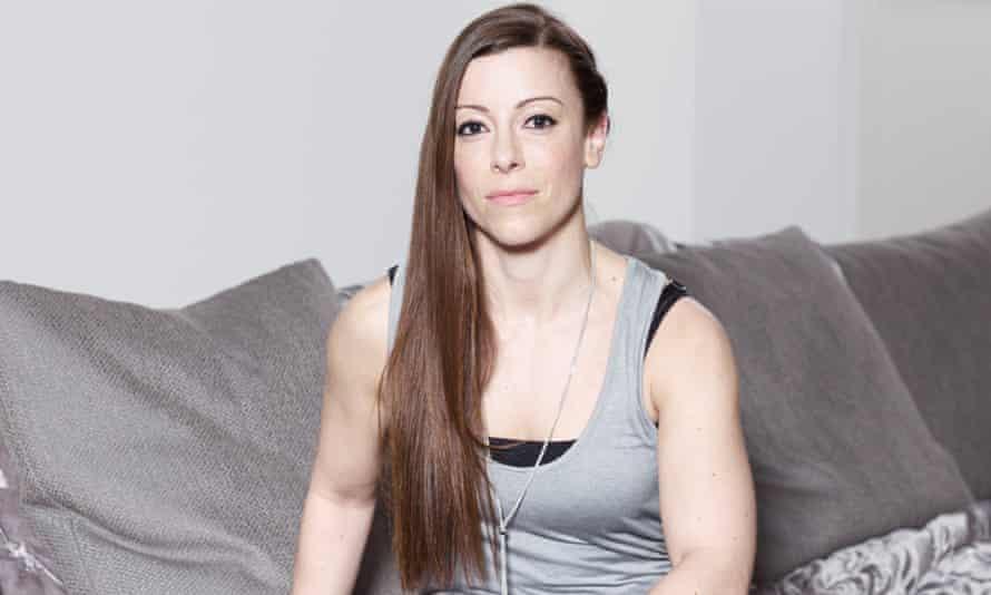 Georgina Williams at home on her sofa