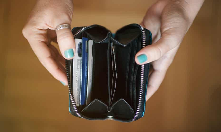 Running on empty … the end of the wallet.