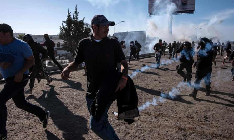 The arrests came amid clashes with members of a migrant caravan attempting to enter the US from Tijuana.