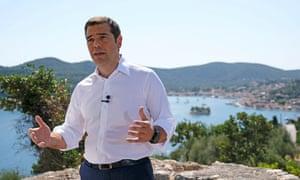 Tsipras in Ithaka
