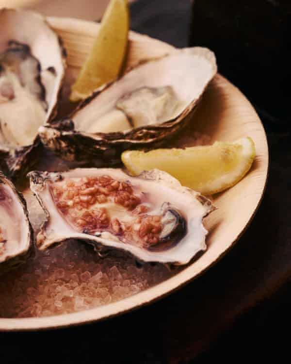Oysters at Riley's Fish Shack, Tyne & Wear.