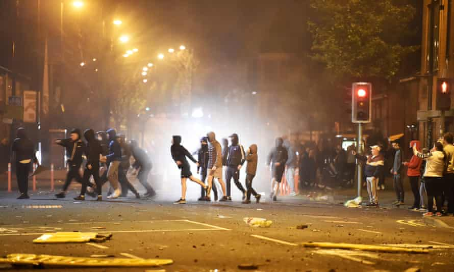 Northern Ireland's first minister joins calls for calm after Belfast riots | Belfast | The Guardian