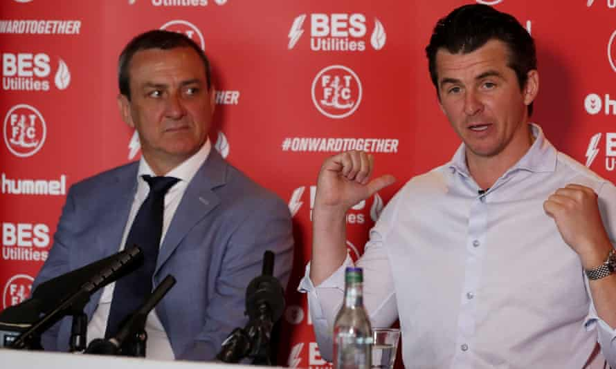 Andy Pilley (left) should perhaps have let Fleetwood's manager Joey Barton know about the possible calamitous consequences for the club of a Labour victory.