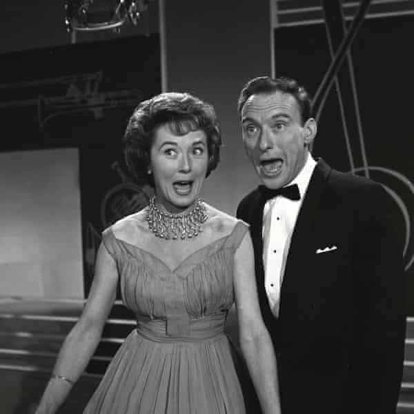 Teddy Johnson and Pearl Carr appearing on Two of a Kind, Eric Morecambe and Ernie's Wise show for ITV, 1962.