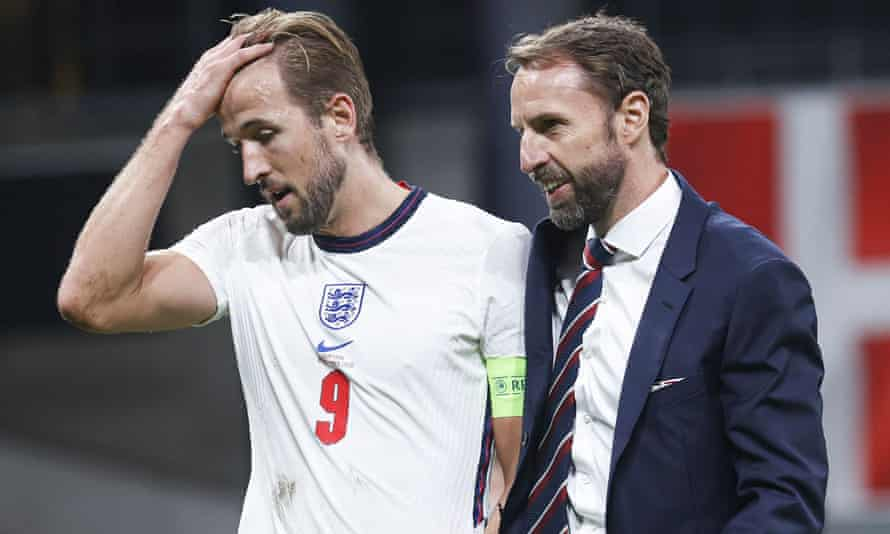 England captain Harry Kane and manager Gareth Southgate