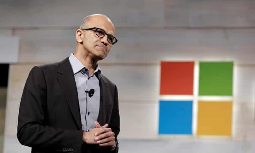Microsoft CEO Satya Nadella. The protest followed weeks of internal discussion about sexism on an email thread that began.