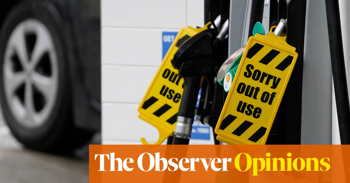 Panic at the pumps could herald a brave new Brexit order. I have my doubts