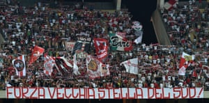 Bari fans at the Stadio San Nicola in 2017.