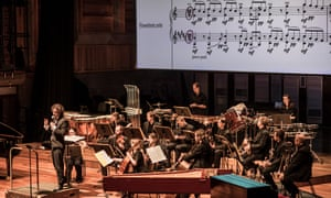 Nicholas Collon directs the Aurora Orchestra at Southbank, London.