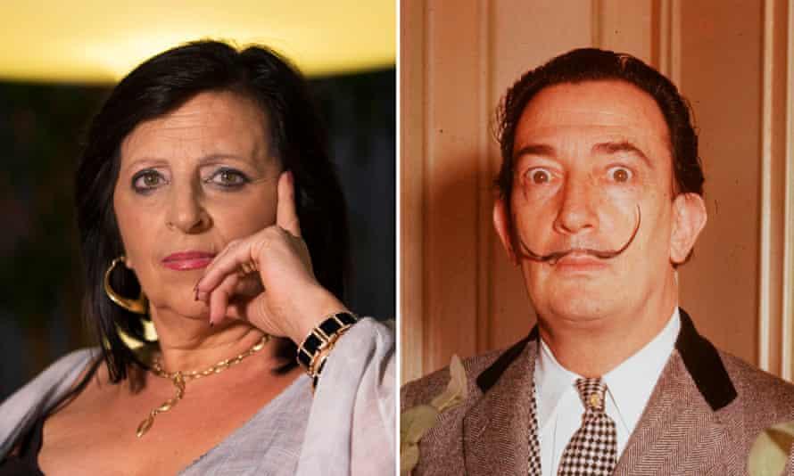 Composite image of Pilar Abel and Salvador Dalí.