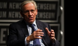 Bob Woodward speaks at the Newseum in Washington.