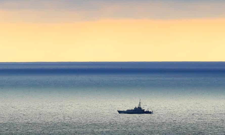 A Border Force cutter on patrol in the Channel
