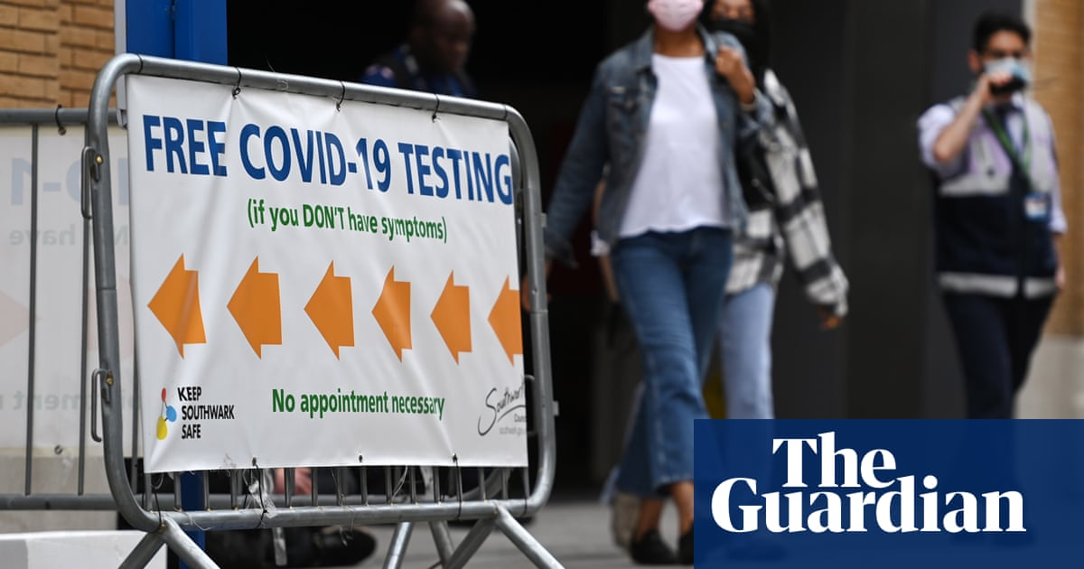 UK Covid cases rise for second day running amid drop in testing