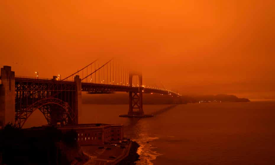 Cars drive along the Golden Gate Bridge at midday in San Francisco on Wednesday.