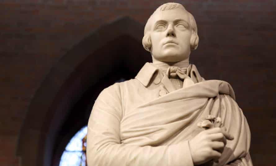 A statue of Robert Burns in Edinburgh