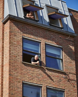 19 April: Locked-down residents of Colville Square in west London look out of their windows to hear Allerton's prayers from the streets below.