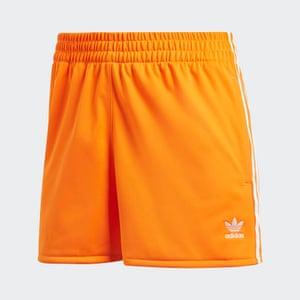 3-stripes shorts in Bahia orange
