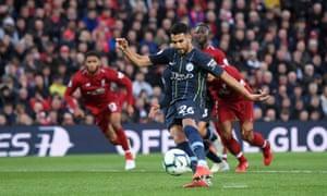 Riyad Mahrez misses a late penalty in last season's goalless draw