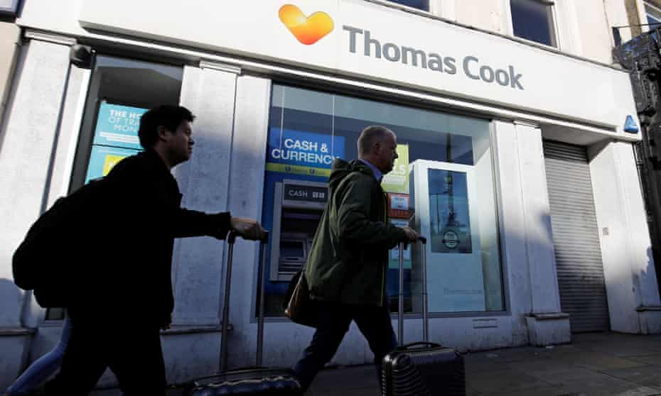 A Thomas Cook shop in London. New owner says a 'significant number' of jobs will be saved