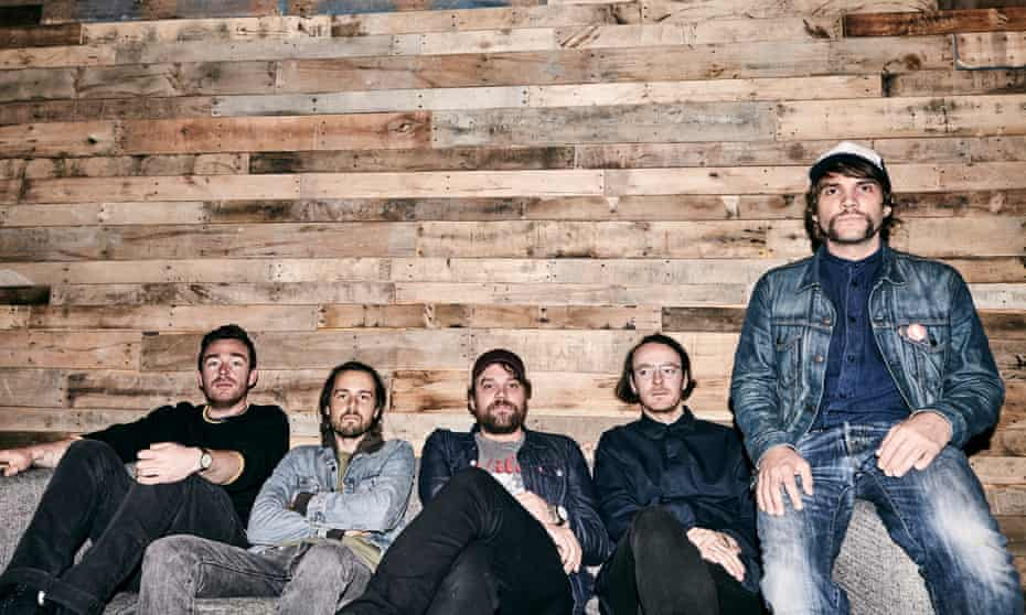 Frightened Rabbit pictured in 2017. (From left) Billy Kennedy, Simon Liddell, Scott Hutchison, Andy Monaghan and Grant Hutchison.