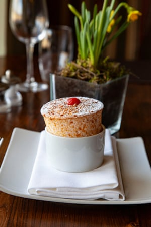 The Feathered Nest rhubarb souffle is perfect – but will you want to stick about for it?
