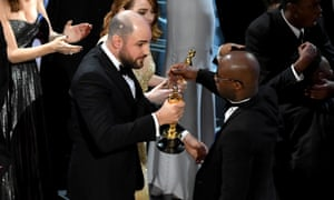 Barry Jenkins finally receives the 2017 best picture Oscar.