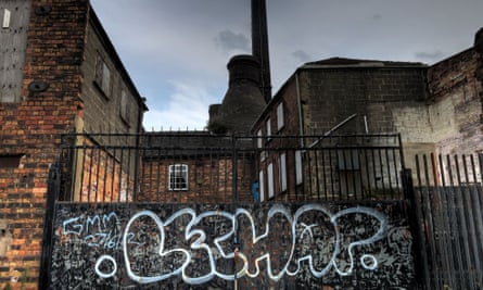 An abandoned pottery factory in Stoke-on-Trent.