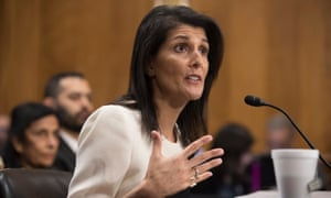 Nikki Haley received a warm reception from the Senate foreign relations committee.