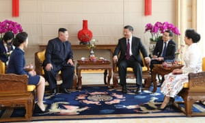 Kim Jong-un and X Jinping meet in Beijing.