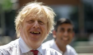 Boris Johnson said he was feeling 'fit as a butcher's dog'.