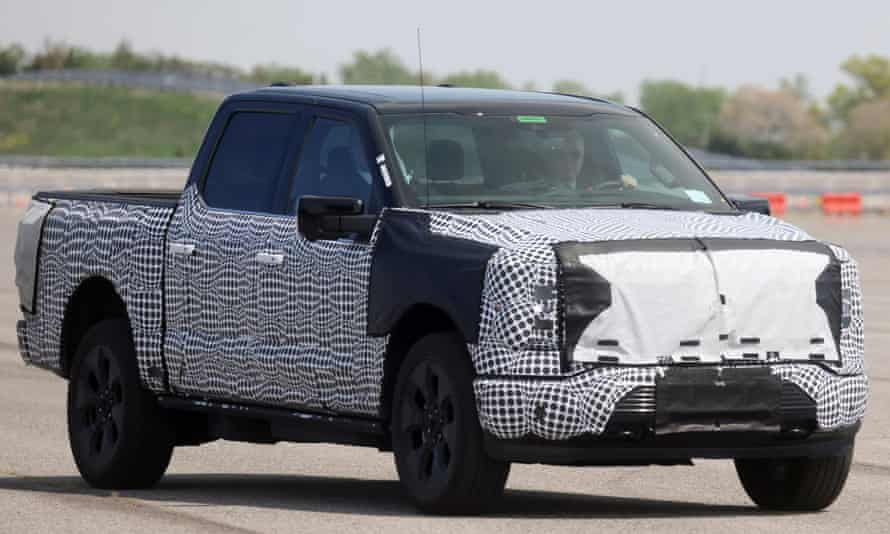 Joe Biden tests the F-150 Lightning in Dearborn, Michigan. Ford's F-Series has been the US's bestselling vehicle since the 1970s.